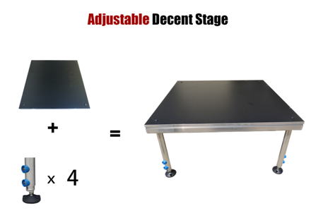 Adjustable Decent Stage