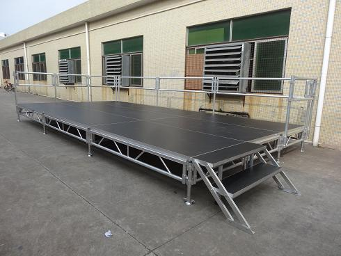 portable aluminum stage